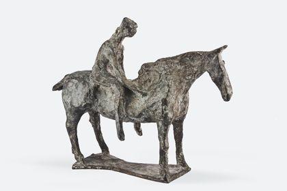 Berittenes Pferd aus Bronze