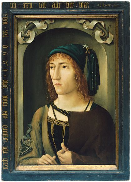 Süddeutsch Portrait of a Young Man aged 22 Years