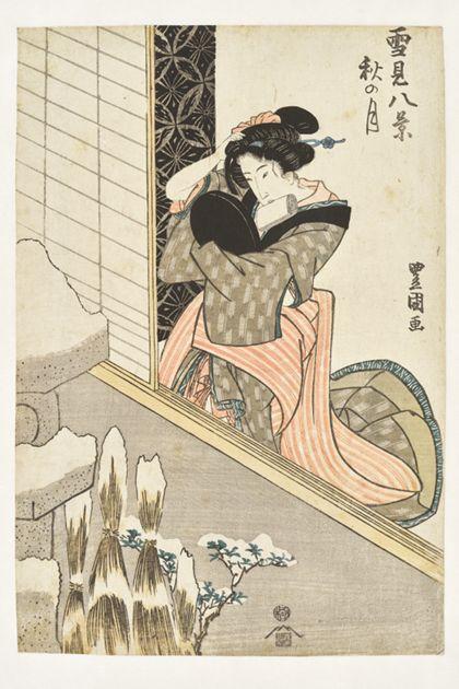 Utagawa Toyokuni II. The Autumn Moon from the series »Eight Views of Snow Scenes«