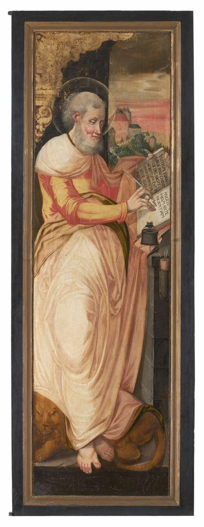 Rechter Flügel mit Darstellung des Evangelisten Markus.