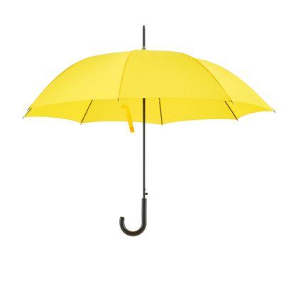 aufgespannter gelber Regenschirm
