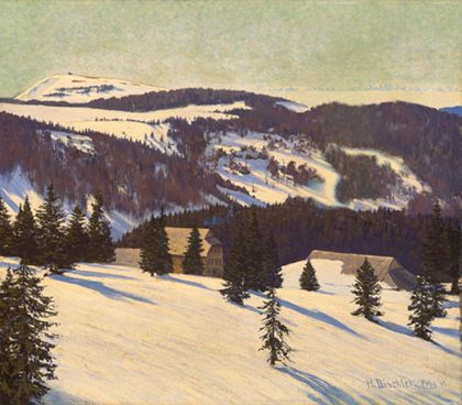 Hermann Dischler My Winter Refuge - Todtnauer Hut on the Feldberg